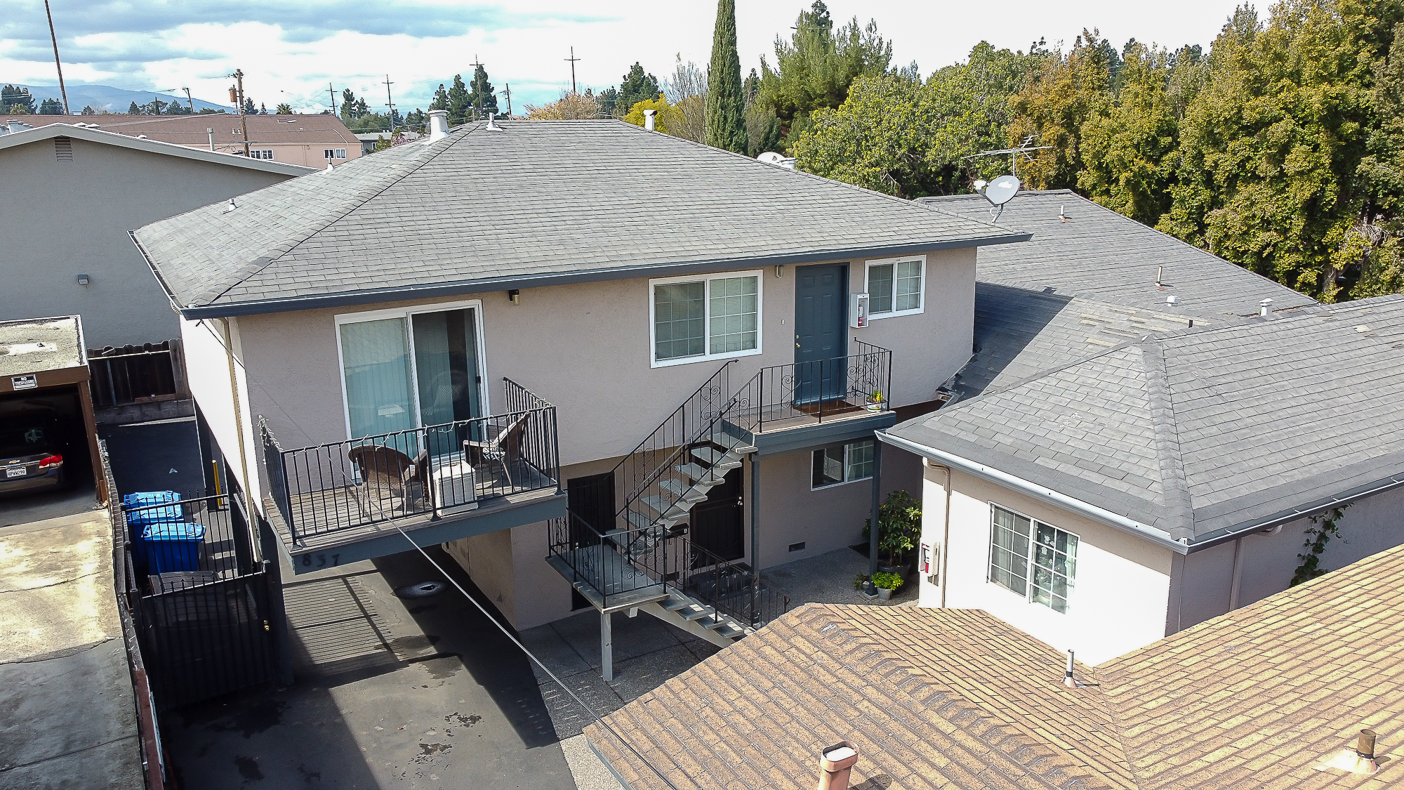 821-837 Northrup Street aerial drone shot